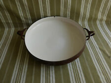 plat à paella en tôle émaillée,dansk design,vintage