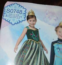 Simplicity Pattern S0748 -Children's Frozen Gowns Size 3 - 8