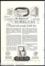 1928 Trenton Potteries Company advertisement, Si-Wel-Clo TOILET, water closet