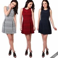 Viscose Party Short/Mini Skater Dresses for Women