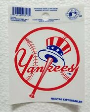 "NY Yankees 3"" x 4"" Small Static Cling Hat Logo Truck Car Auto Window Decal NEW"
