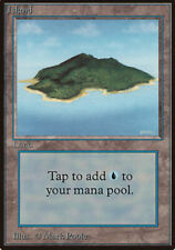 Island (Green) - Beta - NM, English MTG Magic FLAT RATE SHIP