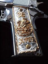 1911 Cachas 38 Super Full Size Custom Pistol Grips 24K Gold Plated Free Screws