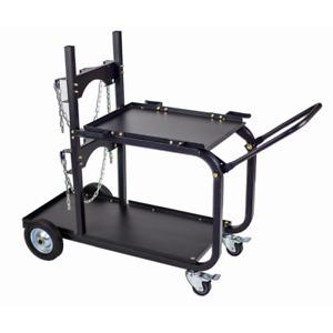 Steel Single/Dual Bottle Heavy Duty Universal Welding Cart with Fold Down Handle