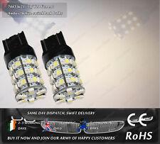 LED SMD 7443 W21/5W T20 580 Amber Yellow Xenon White Switchback Light Bulbs 12V