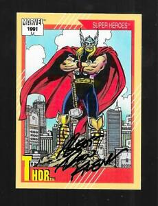 Ron Frenz signed Marvel Universe 1991 card 48 Thor