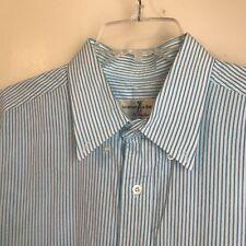 Fairway & Greene Shirt Size Large Club Shirt Men's Striped Cotton Button Down