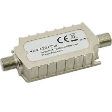 4G LTE Filter F Connector In-Line Adapter-TV/Freeview Interference Coaxial Cable