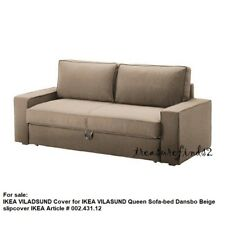 IKEA COVER for VILASUND  Three-seat Queen Sofabed Slipcover only Dansbo Beige
