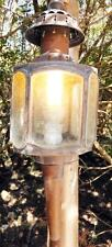 MESSING GOLD KUTSCHER KUTSCHEN WAND LAMPE LEUCHTE LATERNE LICHT ANTIK