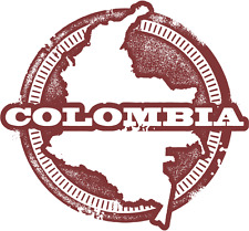 "Colombia South America Travel Car Bumper Sticker Decal 5"" x 5"""