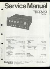 Original Factory Technics/Panasonic SU-9600P Stereo Amplifier Service Manual
