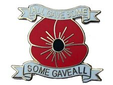 some gave all new design poppy badge british army legion rememberance day 2017