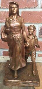 Antique JENNINGS BROTHERS BRONZE Lamp JB Woman & Child STATUE LAMP 8855 1927