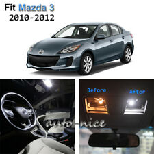 7x Xenon White LED Interior Lights Kit For 2010-2012 Mazda 3
