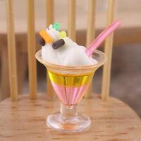 1Pc 1:12 Dollhouse Miniature Ice Cream Cups Dolls Kitchen Food Accessories To YK