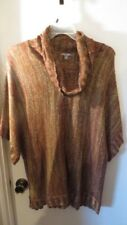 Roz & Ali Cowl Neck Sweater with Gold Metallic Thread, Size 3X, New Without Tags