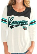 Vancouver Grizzlies Vintage NBA G-III Women's S End Zone 3/4 Sleeve Raglan Shirt