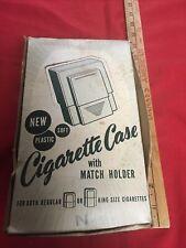 Vintage Cigarette Case w Match Holder Tilco 11 w Box