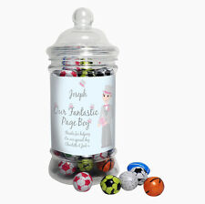 Personalised PAGE BOY Wedding Sweets Jar - Thank You Gift Favour Favor