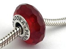 Authentic Pandora Fascinating Red Murano Glass Bead Charm 791066 New