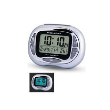 Precision Radio Controlled Alarm Clock Date & Temperature Blue Backlight
