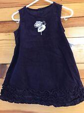 NWOT GYMBOREE Girls DANCE TEAM 2 PC Purple Monkey Corduroy Jumper Dress 12-18M