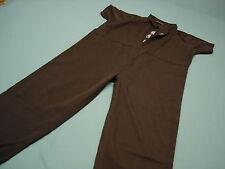 Inmate Jail Prisoner Costume Convict   Prison  Jumpsuit  3XL Brown coveralls