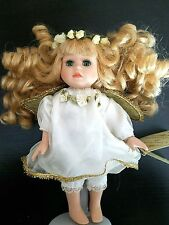 Collector's Choice Angel Garden Fairy Floral Fine Bisque Porcelain Doll - DanDee