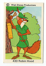 1970s Sweden Swedish Walt Disney Card - Robin Hood with bow & quiver of arrows
