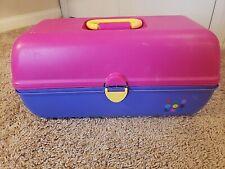 Caboodles Vintage Pink Turquoise Hair Makeup Storage Organizer Case Slide Trays