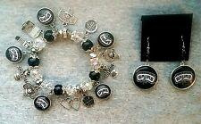 NBA San Antonio Spurs bracelet and earring set