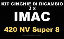 ★ KIT CINGHIE DI RICAMBIO 3 x PROIETTORE SUPER 8 mm IMAC 420 MV ★