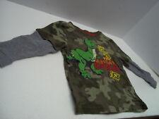 Disney TRex Dinosaur Boys Thermal Shirt 3T Camoflage