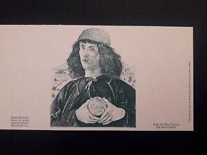 1 gravure épreuve France 3301 bis Sandro Botticelli Portrait musée Florence 2000