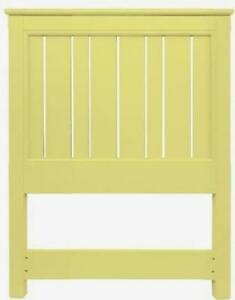TRADE WINDS COTTAGE BED TRADITIONAL ANTIQUE TWIN YELLOW PAINTED MAHOGANY F