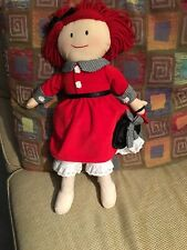 """Madeline Doll Plush 17"""" 2004 Complete Outfit W Slip & Tights See Tag Details !"""