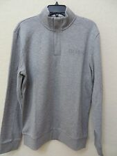 Hugo Boss Green Label Hadim Skaz Half Zip Sweatshirt Mens LGray MSRP$175.00