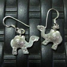 Earrings Hill Tribe Fine Silver Hand Craft Camel Dangle Hooks er001