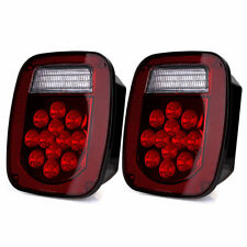 1 Pair Trailer Brake Tail Light Stop Turn Signal for Kenworth TJ Wrangler Truck