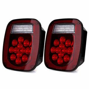 1 Pair Trailer Brake Tail Light Stop Turn Signal for Kenworth TJ Wrangler Truck