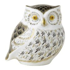 Crown Derby - Paperweight - Little Grey Owl - NEW in Box - PAPBOX61817