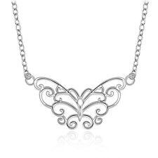 Damenhalskette Anhänger Schmetterling 45cm Halskette pl. mit  Sterlingsilber