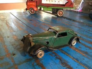 vintage antique metal tin car Vauxhall Minic toys England collectable 1940-50s