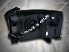 05-07 Dodge Dakota Crystal Black Headlights Lamps + Amber Reflector