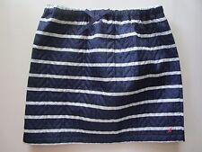 Nautica NWT Navy Blue White Striped Quilted Mini Straight Skirt Sz M 10-12 yrs