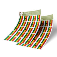 """Ghana Flag Sticker Decal 1"""" Rectangle Two Sheets 50 Total Stickers"""