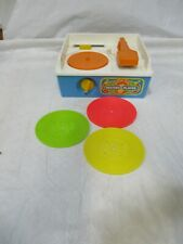 Vintage Fisher Price Music Box Record Player with 3 Records Twinkle Twinkle