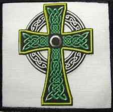 2TONE CELTIC CROSS - Printed Patch - Sew On - Vest, Jacket, Backpack, T-Shirt