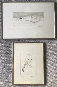 Limited Edition Prints signed framed by Philip SollyCats